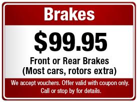 $99.95 Brake Repair