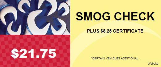Smog Check $21.75 - MechaincAdvisor.com Special