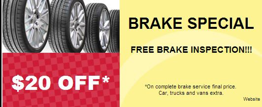 $20.00 off Brake Special