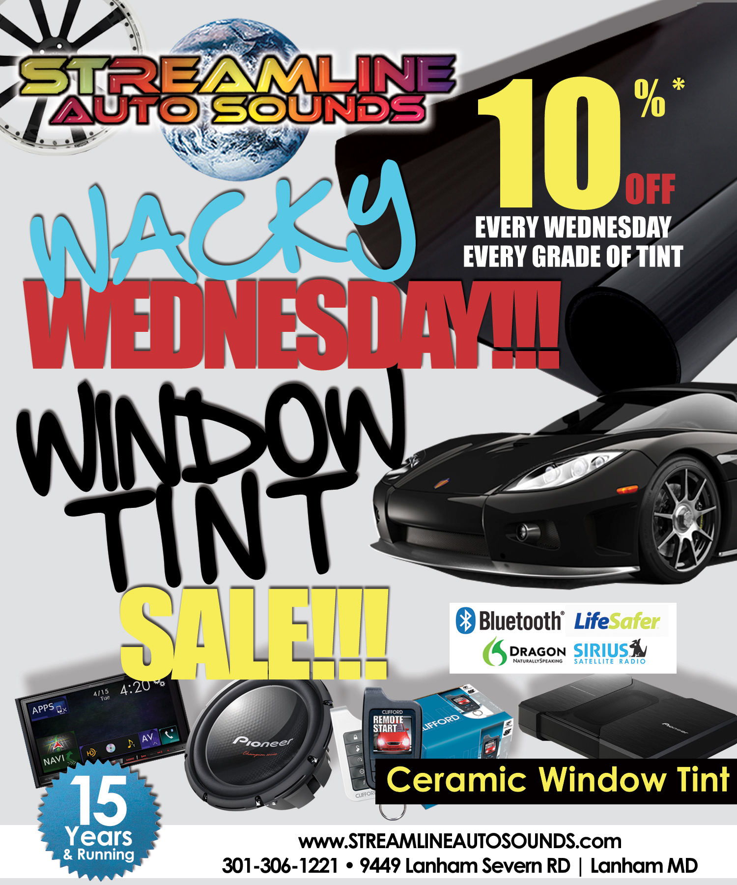 Wacky Wednesday Window Tint Sale!!!