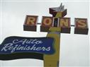 Ron's Vintage Sign  on the corner of Stevens & Strand Ave.