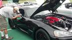 twin turbo viper at car show