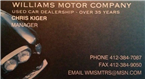 Williams Motor Company