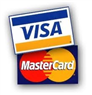 We accept visa/master card