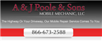 A & J Poole & Sons Mobile Mechanic, LLC Diesel Truck Auto Repair