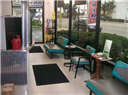 Come enjoy our retro themed customer area, or we can shuttle you to home or office!