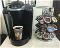 This picture of our new Keurig coffee maker is one of our most liked photos on Facebook for some reason, so I thought I'd share it again!