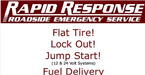 "Rapid Response ""24 Hour Roadside Service"""