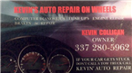 Kevins Auto Repair On Wheels