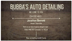 Bubba's Auto & Boat Detailing Mobile Service